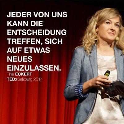 Tina Eckert bei TEDx Salzburg
