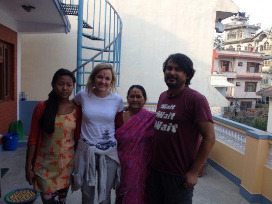 Tina Eckert in Nepal