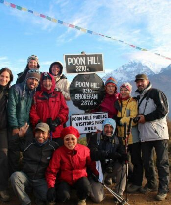 Wandergruppe am Poon Hill