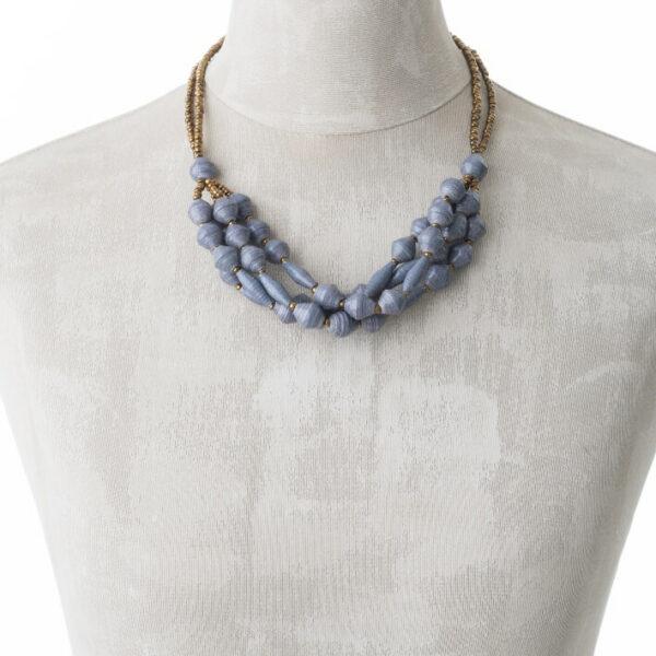 KALiARE-Kette Modell Felistas in der Farbe Blau-Grau