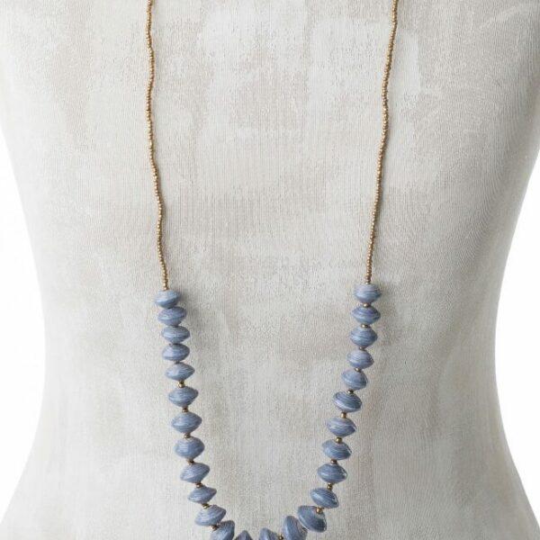 KALiARE-Kette Modell Sylivia in der Farbe Blau-Grau