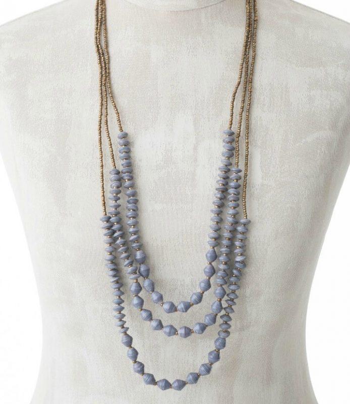 KALiARE-Kette Modell Lydia in der Farbe Blau-Grau
