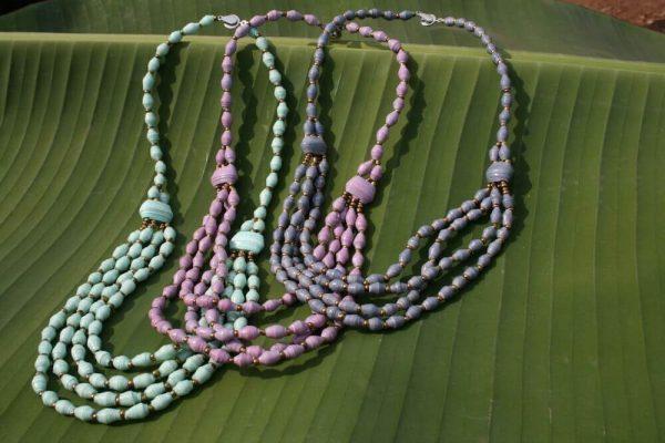 KALiARE-Ketten Modell Aida in den Farben Mint, Rose und Grau-Blau