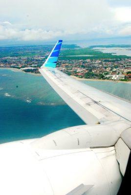 Sicht aus einem Flugzeug