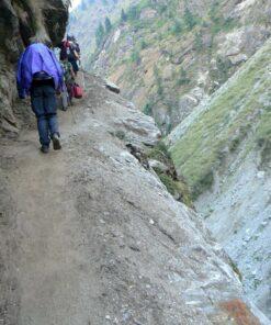 Wanderer im Annapurnagebirge