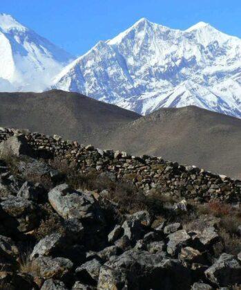 Blick auf das Annapurnamassiv