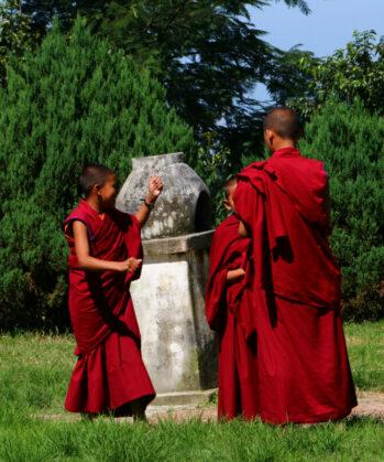 Mönche in Nagi Gumba