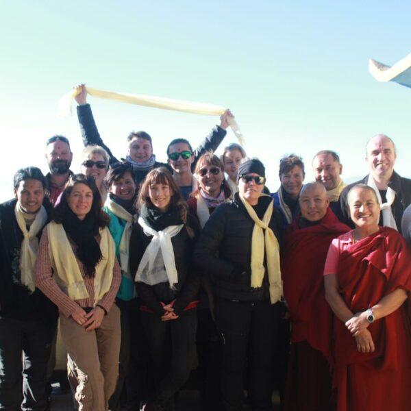 Gruppenfoto der Karmalaya Silvesterreise in Nepal