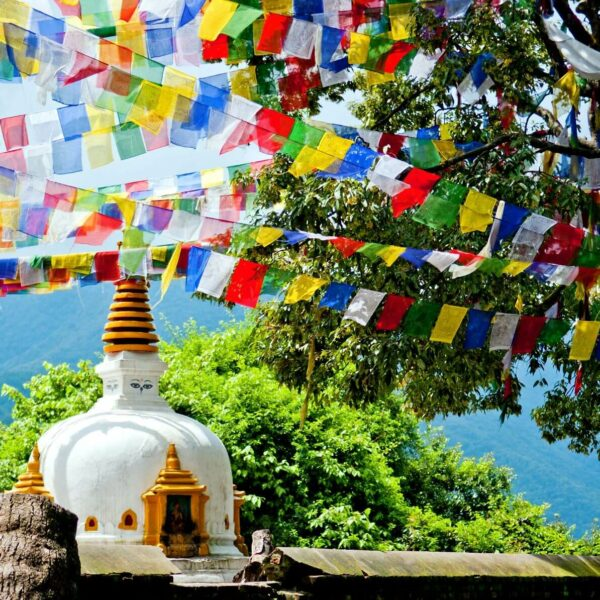 Ausblick vom Affentempel in Kathmandu, Nepal