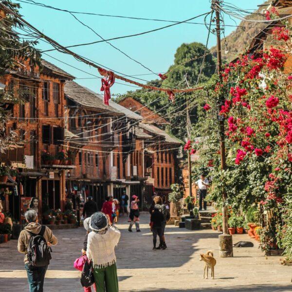 Straßen von Bandipur Nepal
