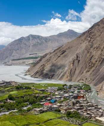 Blick auf das Dorf Kagbeni, Himalaya, Nepal