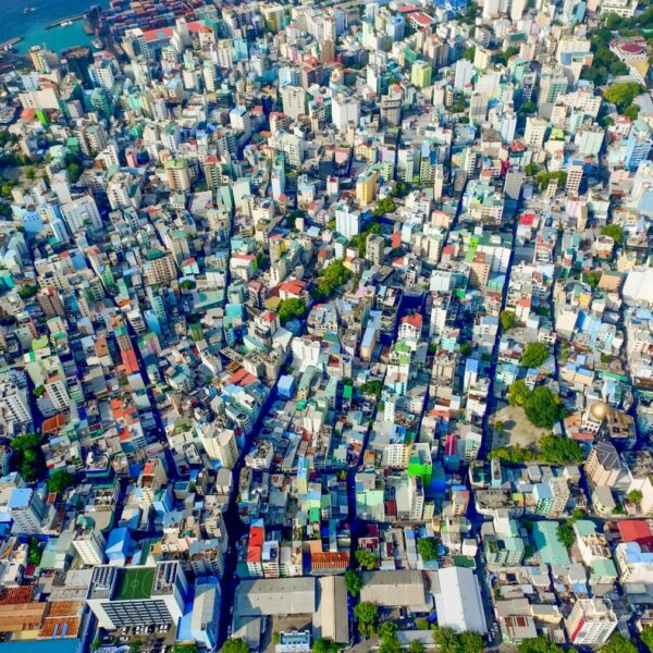 Vogelperspektive von Malé, Malediven