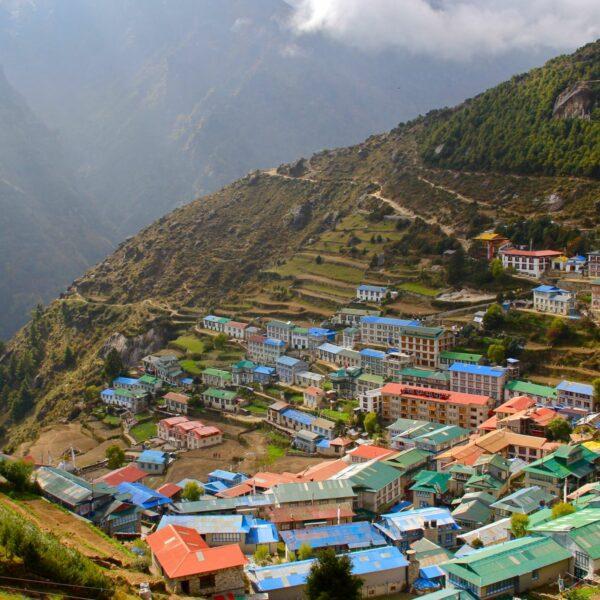Dorf Namche Bazar auf dem Weg zum Everest BC