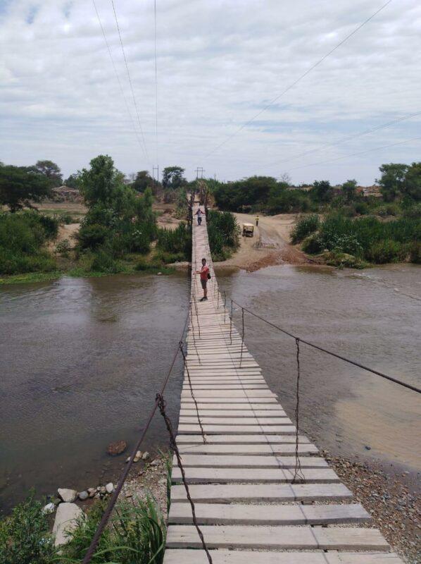 Hängebrücke in Peru